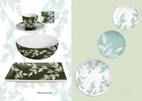 Annie Phillips' Homeware Catalogue - Patterned Leaf Design 1